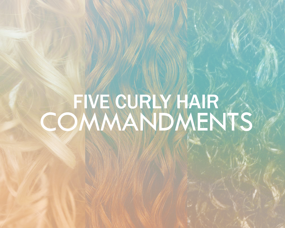 curly hair commandments