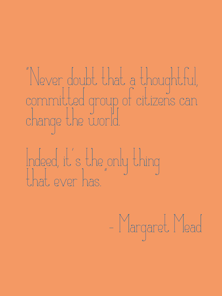 margaret mead quote, committed