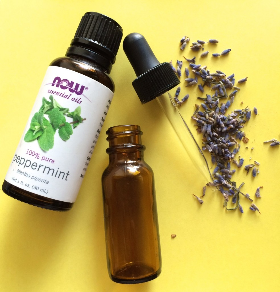 DIY lavender and peppermint stress relief