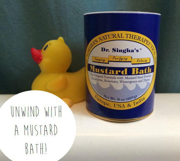 Mustard bath remedy for sleeplessness, detoxification and soreness