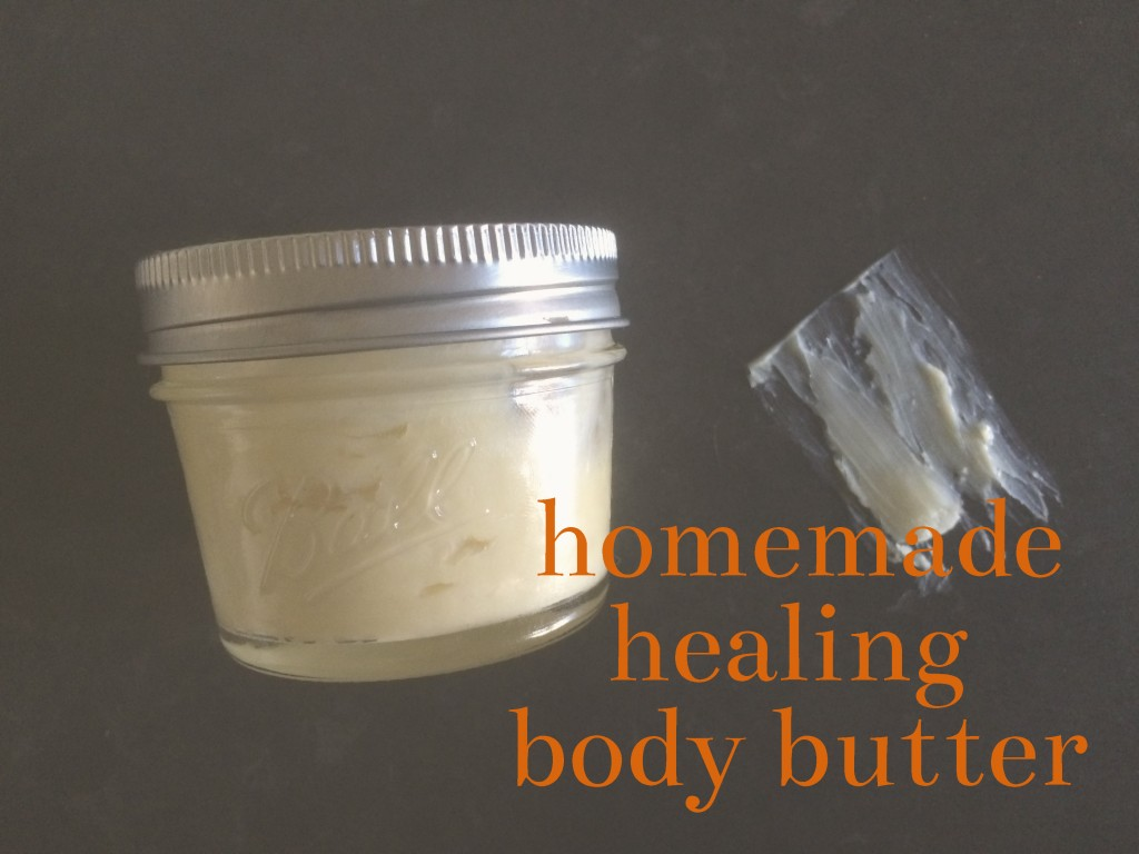 DIY healing lotion, body butter, may day glow, coconut oil, shea butter, almond,
